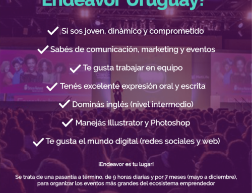 ¿Te gustaría formar parte del equipo de Endeavor Uruguay?